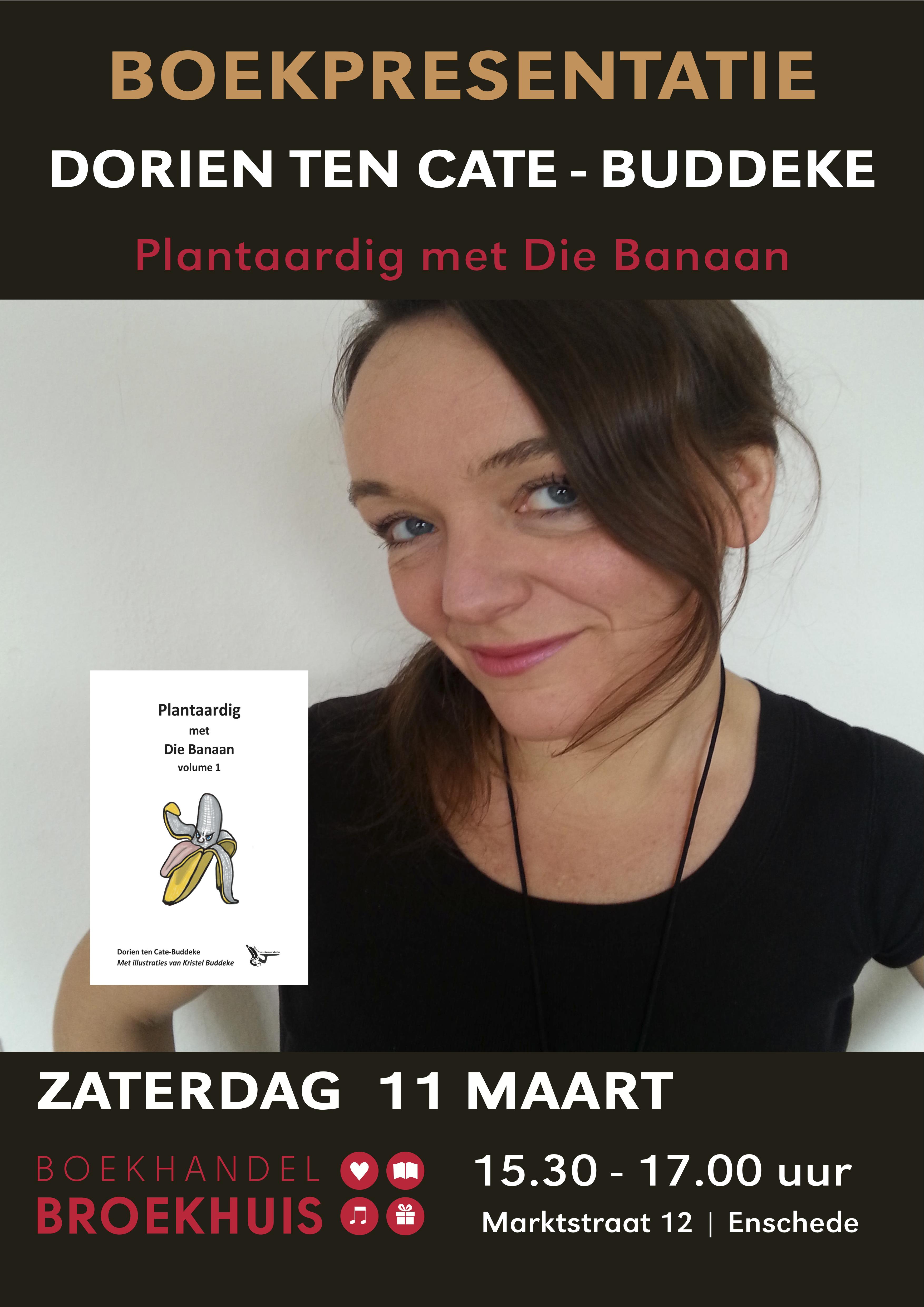 Boekpresentatie DORIEN TEN CATE-BUDDEKE Plantaardig met die banaan